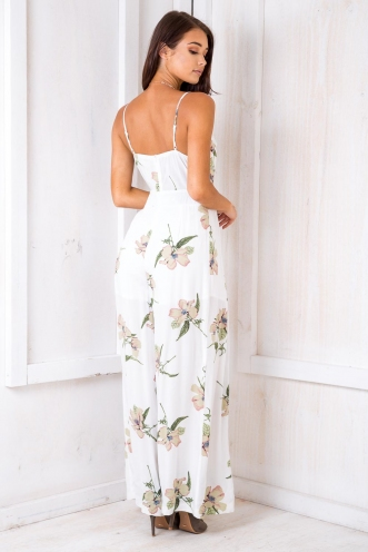 How Deep Is Your Love Jumpsuit - White Floral