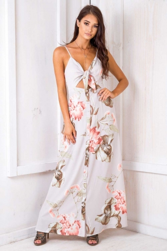Dory Dress - Nude Floral