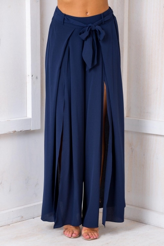 Paris Crepe Pants - Navy