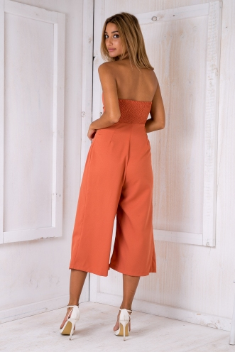 Lotus jumpsuit -Rust Orange