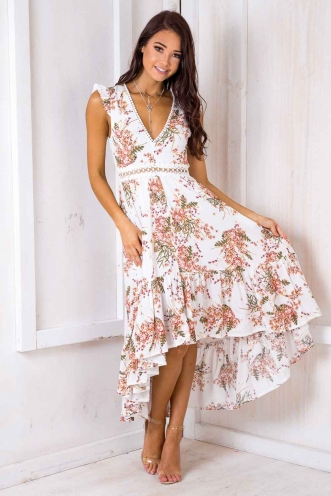 Ivy Maxi Dress - White Floral