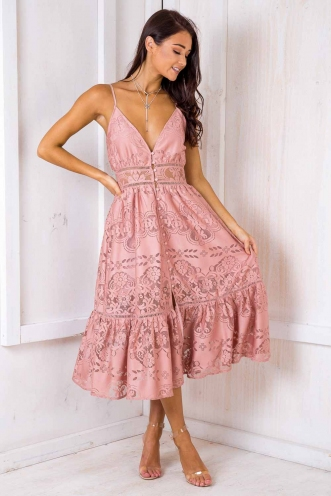 Peanut Butter Truffle Cake Dress - Blush Lace
