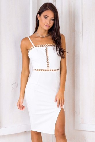 Dizzy Lizzy Dress - White