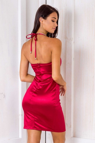 Hey There Delilah Dress - Maroon