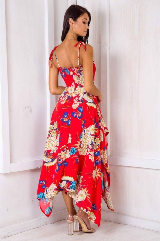 Strawberry Fields Forever Dress - Red Floral