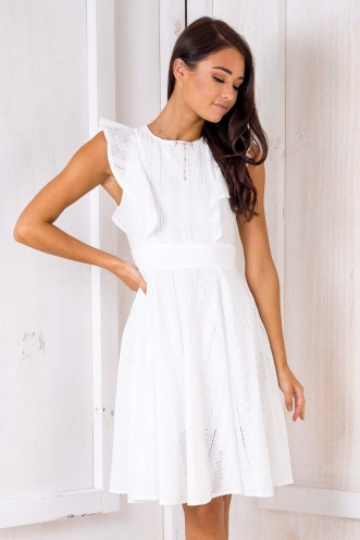 All Or Nothing Dress - White