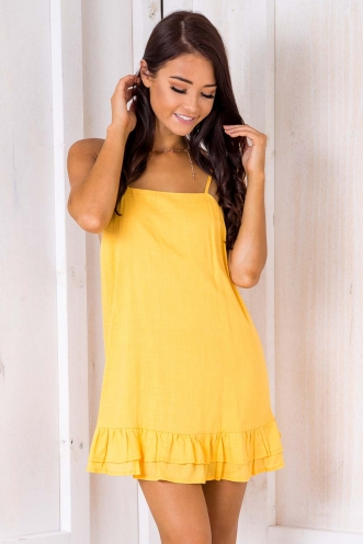 Mini Doughnut Cupcake Dress - Yellow