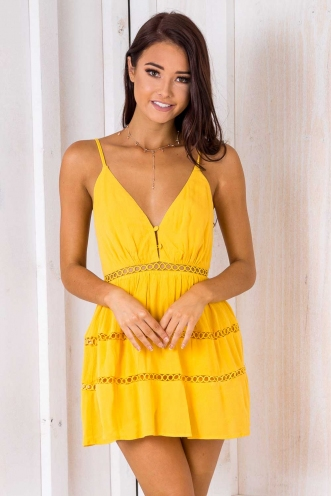 Teenage Dirtbag Dress - Yellow