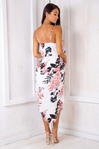 What I Want Relaxed Maxi Dress - White Print