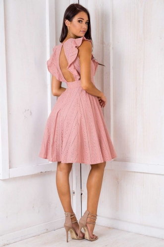 All Or Nothing Dress - Blush