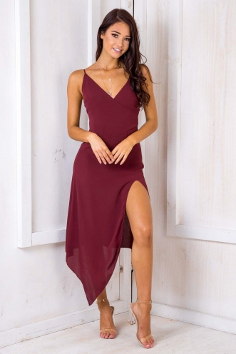 That's My Goal Dress - Maroon
