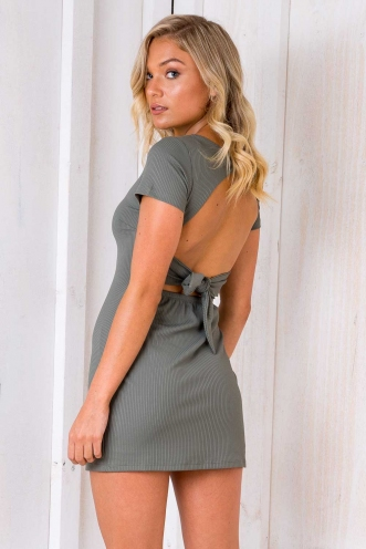 Fall For You Dress - Khaki