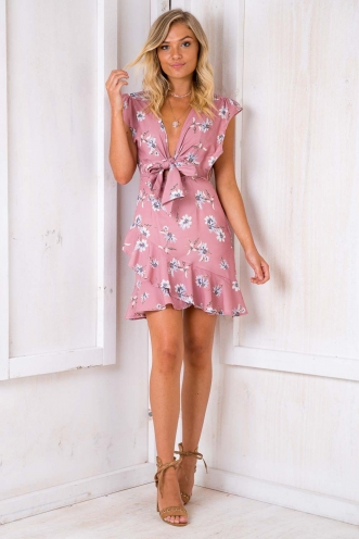 Night Changes Dress - Pink Floral