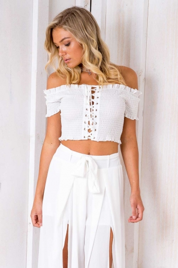 Fig Roll Top - White