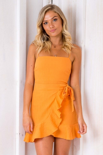 Applebloom Dress - Orange