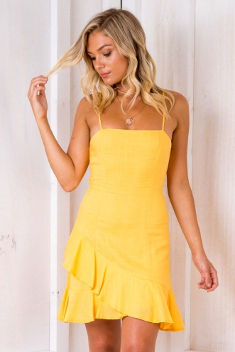 Minnie Mouse Dress - Yellow