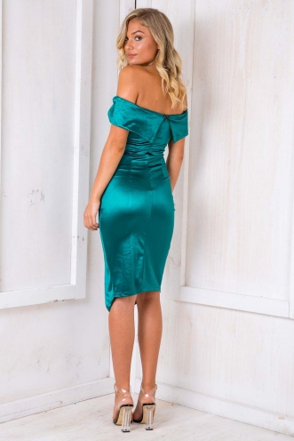 Renata Off The Shoulder Dress - Green