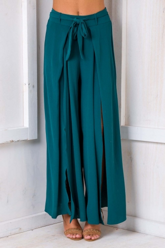 Paris Crepe Pants - Green