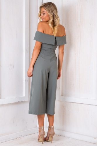 Rolling In The Deep Jumpsuit - Khaki
