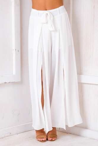 Paris Crepe Pants - White