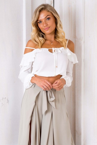 Marlin crop top - White