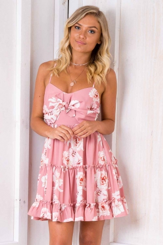 Never Say Never Dress - Pink Floral