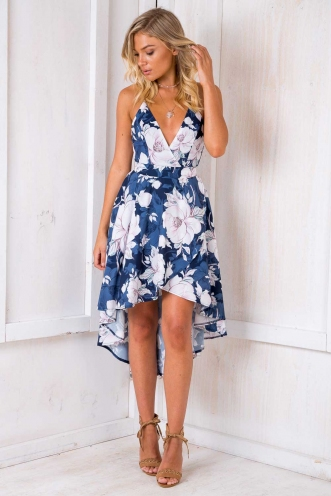 Remember The Time Dress - Navy Floral
