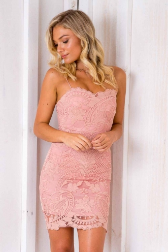 This Is Me Dress - Blush Lace
