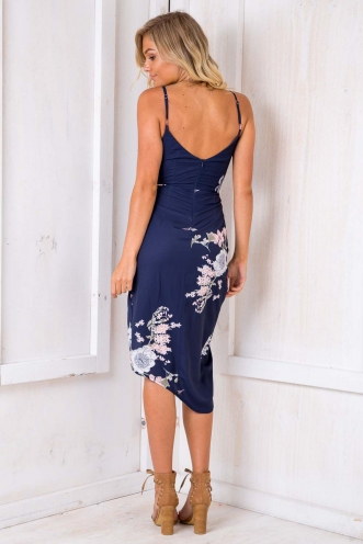 It Goes Like This Dress - Navy Floral