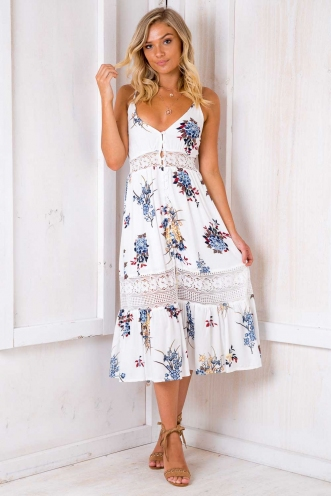 Spring Has Sprung Dress- White Design