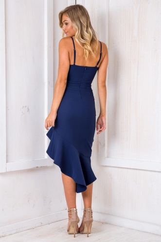 Wizz Fizz Dress - Navy