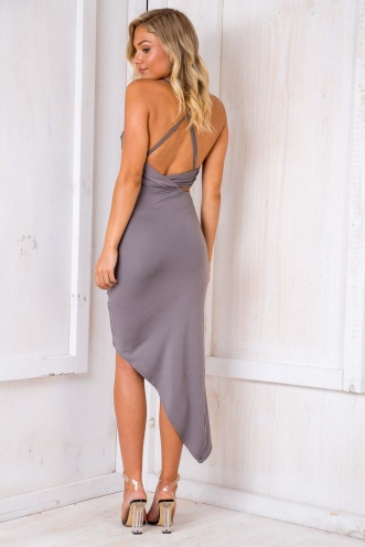 Up All Night Dress - Grey