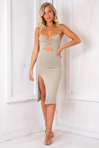Dance In The Dark Dress - Light Khaki