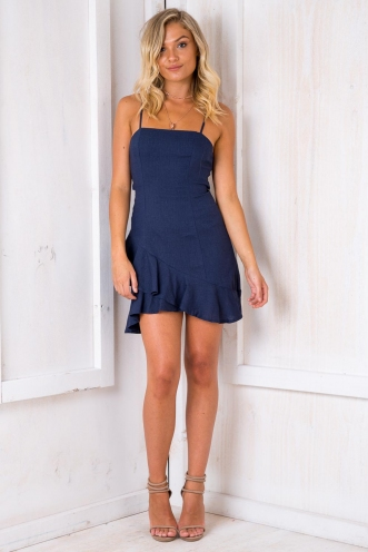 Minnie Mouse Dress - Navy