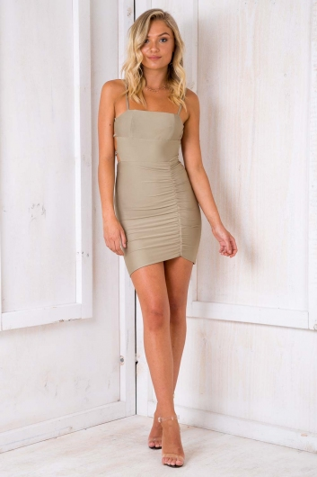 Moves Like Jagger Dress - Light Khaki