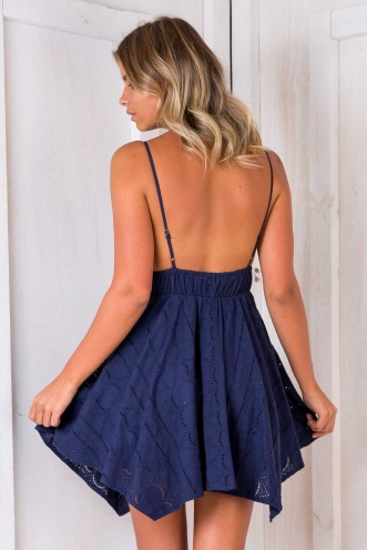Crazy In Love Dress - Navy
