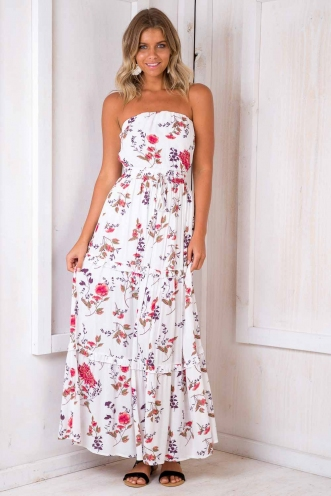 Real Talk Dress - White Floral