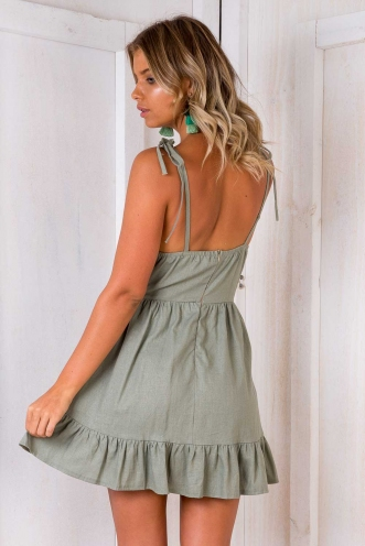 Seachange Dress - Khaki