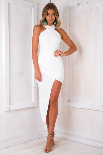 Tahnee Evening Dress - White