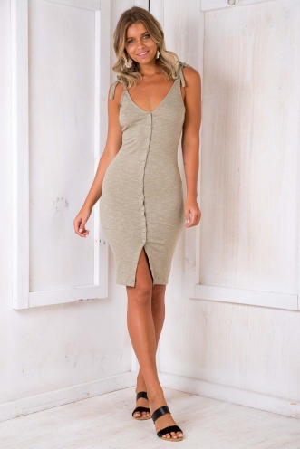Summer Essentials Dress - Khaki