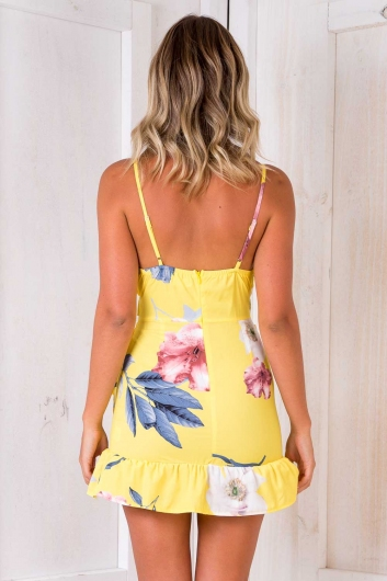Have It Your Way Dress - Yellow Print