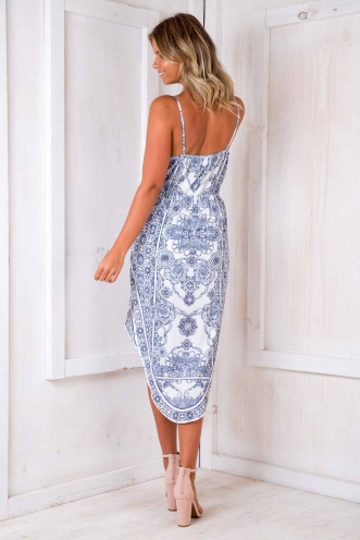 Head In The Clouds Dress - White Print