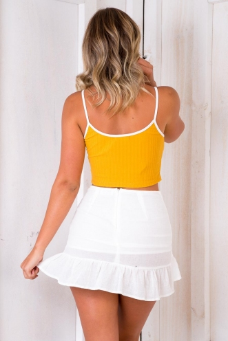 Frenchie Singlet Top - Mustard