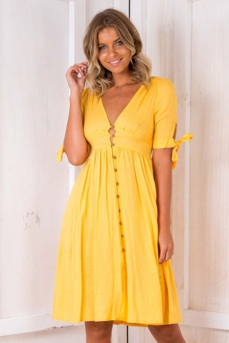 Shakira Dress - Yellow