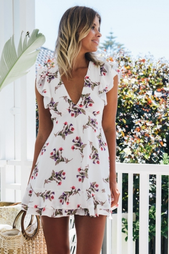 Keep it Simple Dress - White Floral
