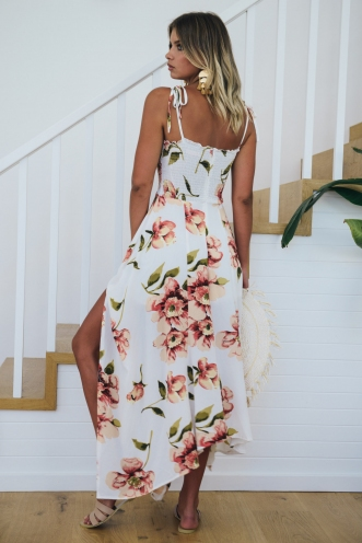 Strawberry Fields Forever Dress - White Floral