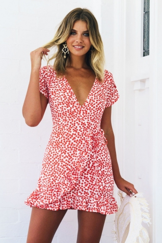 Belle Dress - Red Print