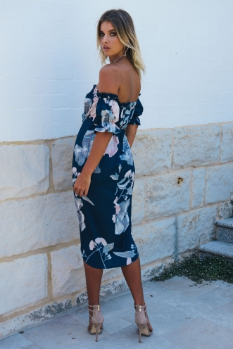 Caterina dress - Navy Floral