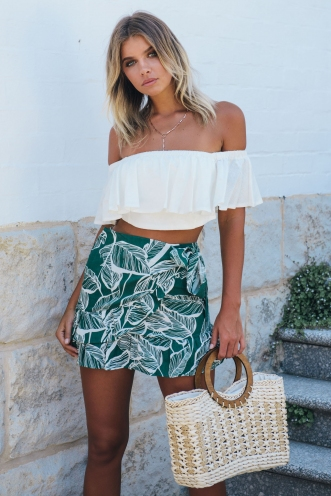 Coconut Cake Skirt - Green Print