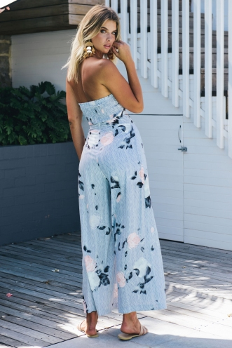 Tropical Getaway Pants - Pin Stripe Floral